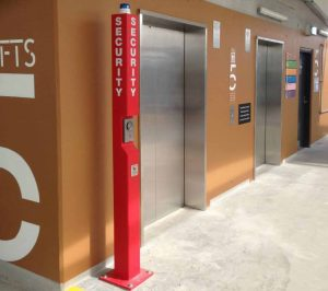 Install emergency help point bollards to create an extra level of security for patrons.