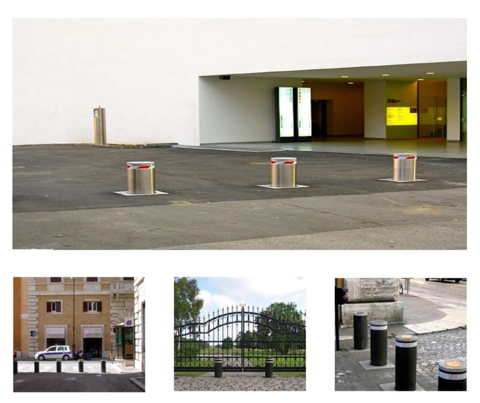 Protect your property with hydraulic bollards.